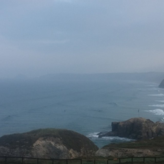 Surf report photo of Perranporth (Droskyn)