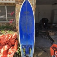 Fish quadfin fiberglass surfboard 6'8